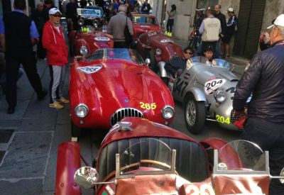 Early morning gathering - Mille Miglia - Brescia